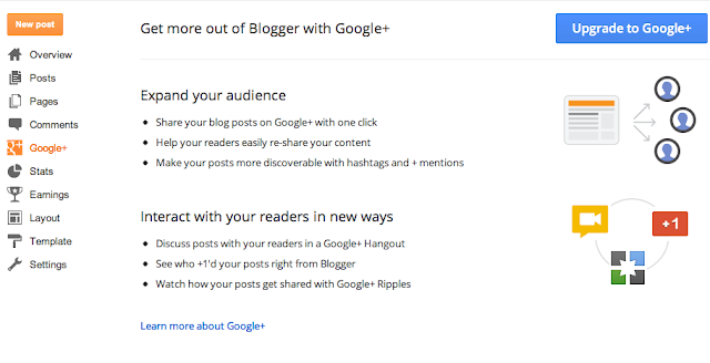 Connect your blog to Google+, Blogger to Google plus