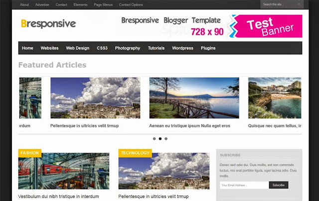 Bresponsive Blogger Template 2 column