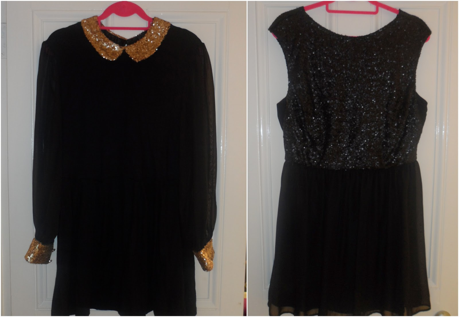 Primark black dress with white collar and cuffs