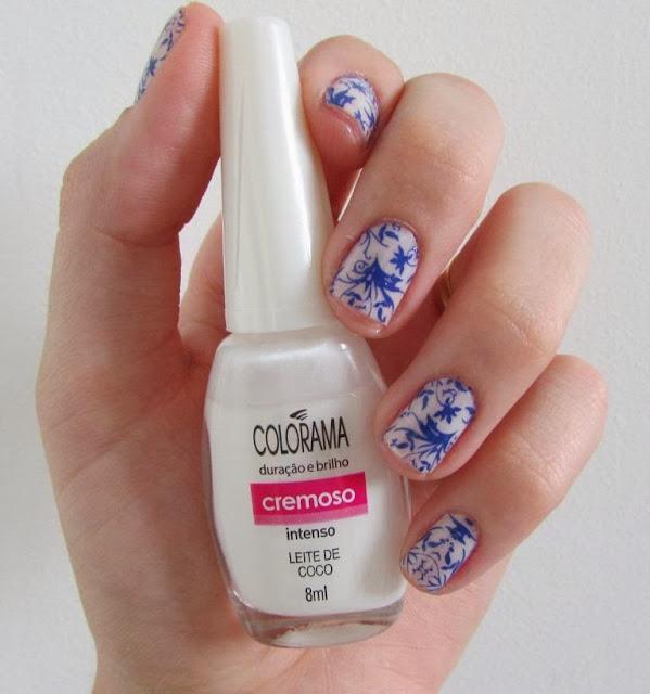 Unha da semana, Leite de Coco, Colorama, Protector Nail