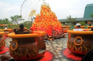 Wahana Fire Pots di Jungleland