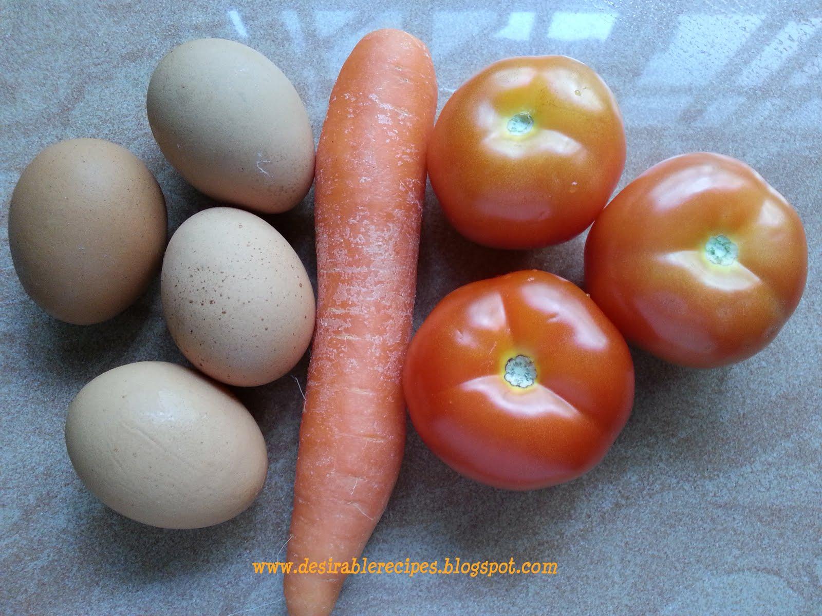 15 Minutes - Stir Fried Tomato, Carrot & Egg