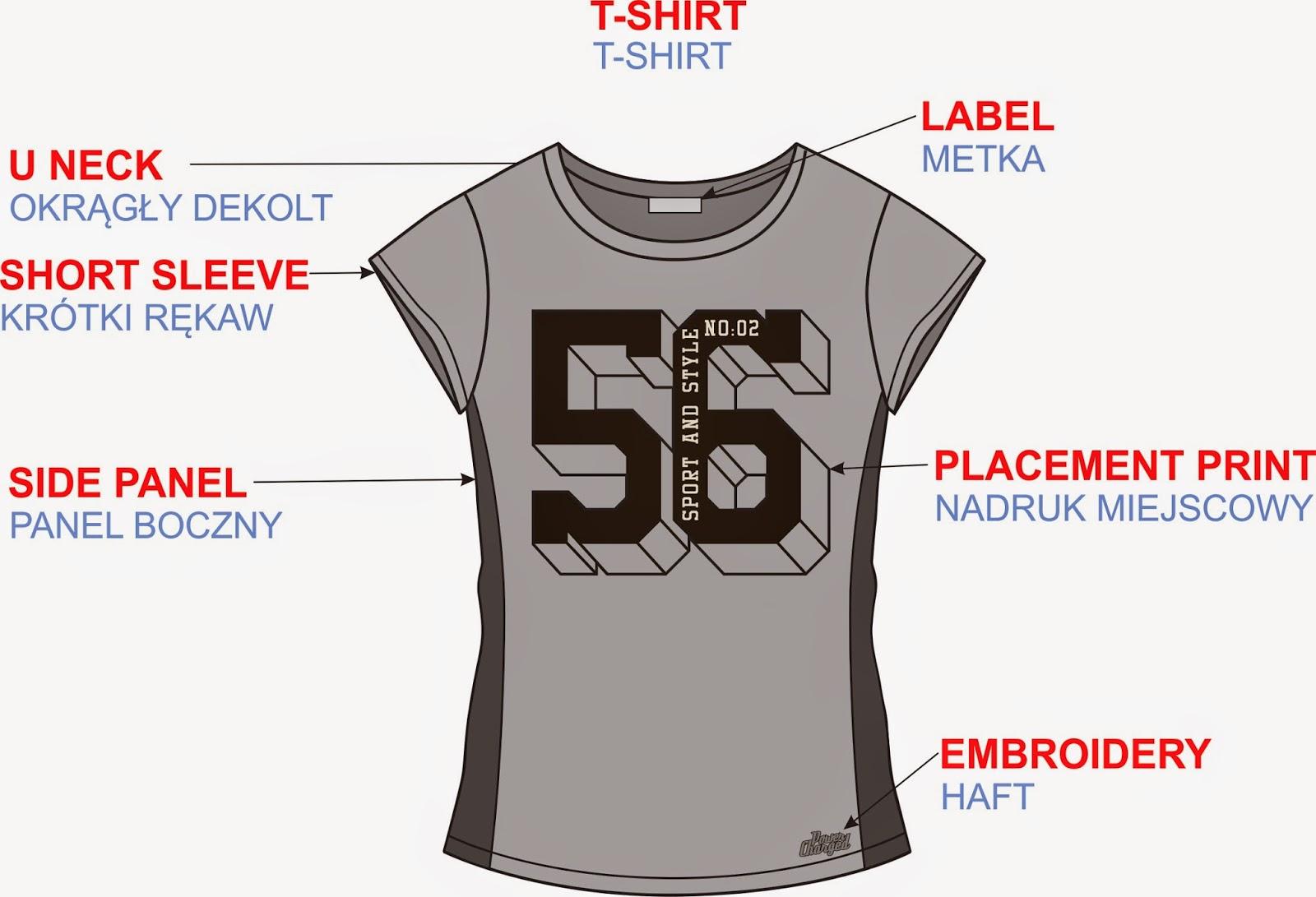 T-shirt słowniczek