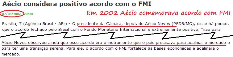 Empresários produtivos se apavoram com ameaça de Aécio quebrar o Brasil como FHC quase quebrou