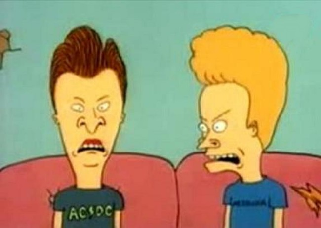 Beavis and Butthead, slightly