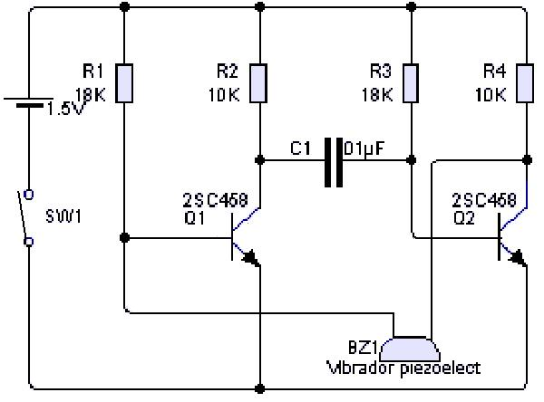 Circuito Zumbador Piezoelectrico : Zumbador piezoelectrico