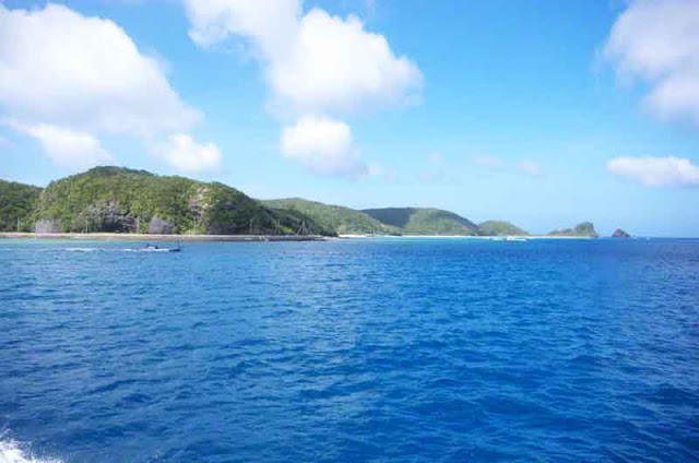 Ryukyu Islands, Kerama, from ferry