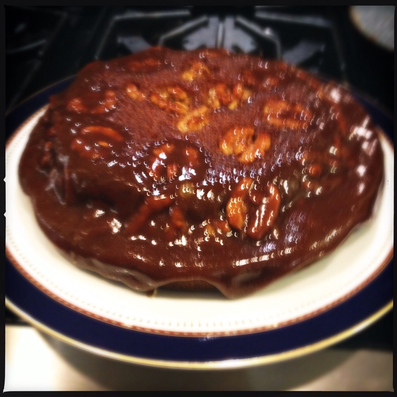 ... : January Jeliciousness: Caramel Walnut Upside-Down Banana Cake