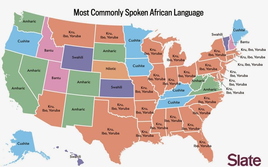 Beyond Niamey US Census Bureau And African Languages - African language map