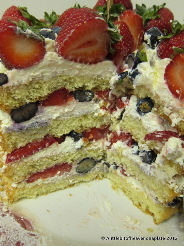 A little bit of heaven on a plate Fresh Fruit Cream Genoise