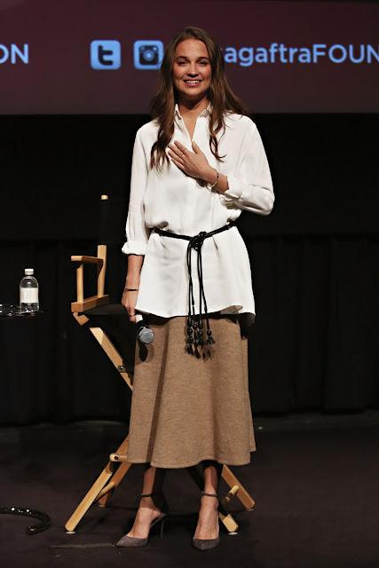 Actress, @ Alicia Vikander - SAG-AFTRA screening of 'The Danish Girl' in NYC