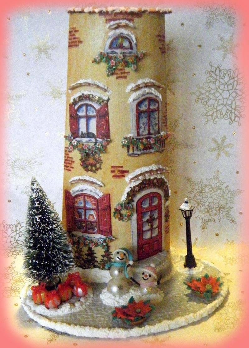 Il magimondo tegola casetta del natale - Finestre decorate per natale ...