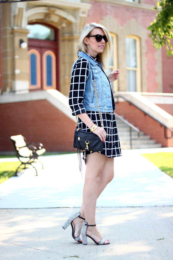 Old Navy Denim, Old Navy Denim Vest, Denim Vest, Windowpane Print Dress, Window Pane Print Dress