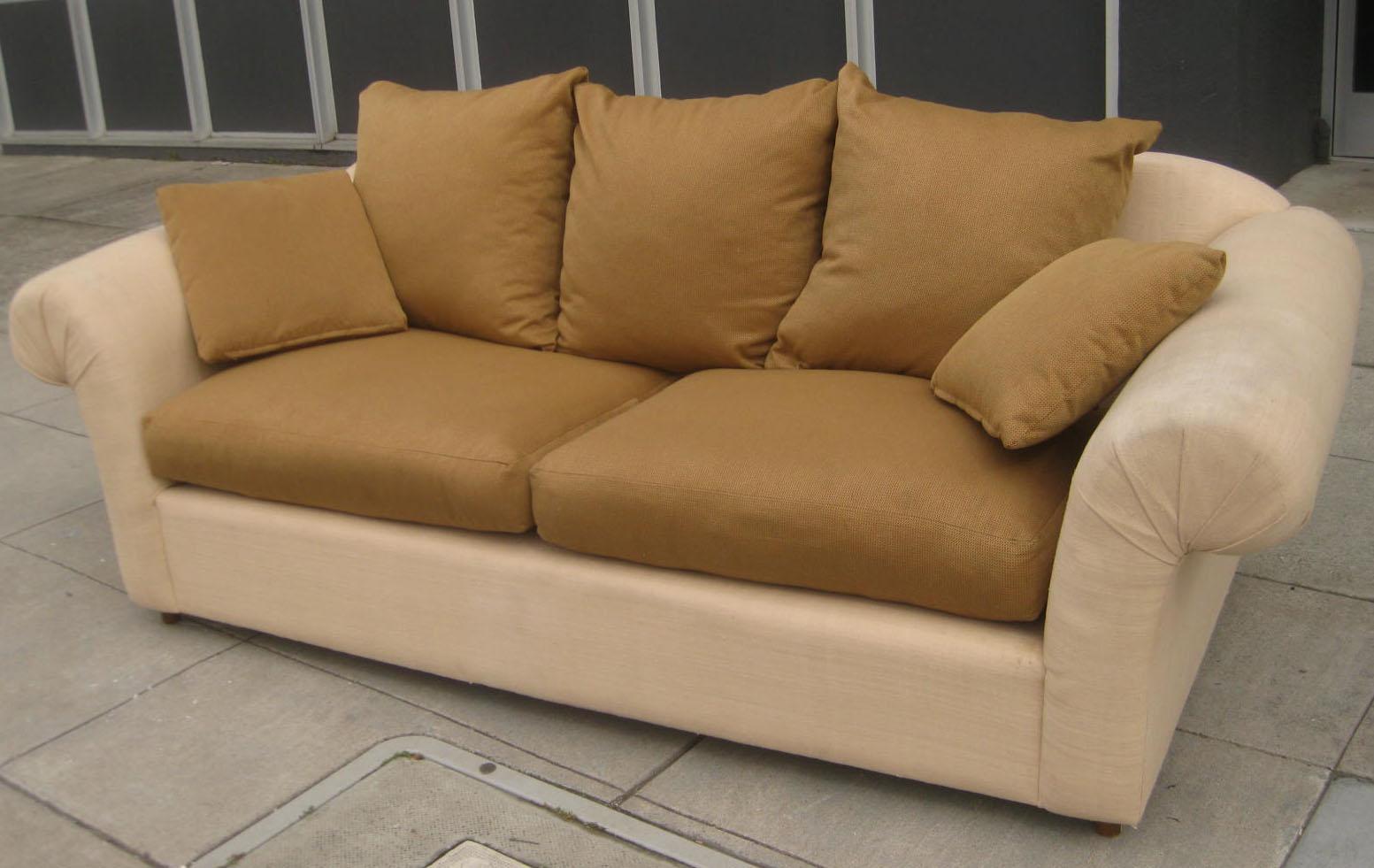 Uhuru Furniture Collectibles Sold 2 Tone Silk Sofa 100