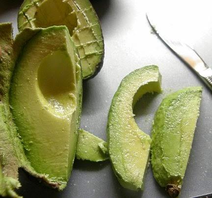 scoop of avocado