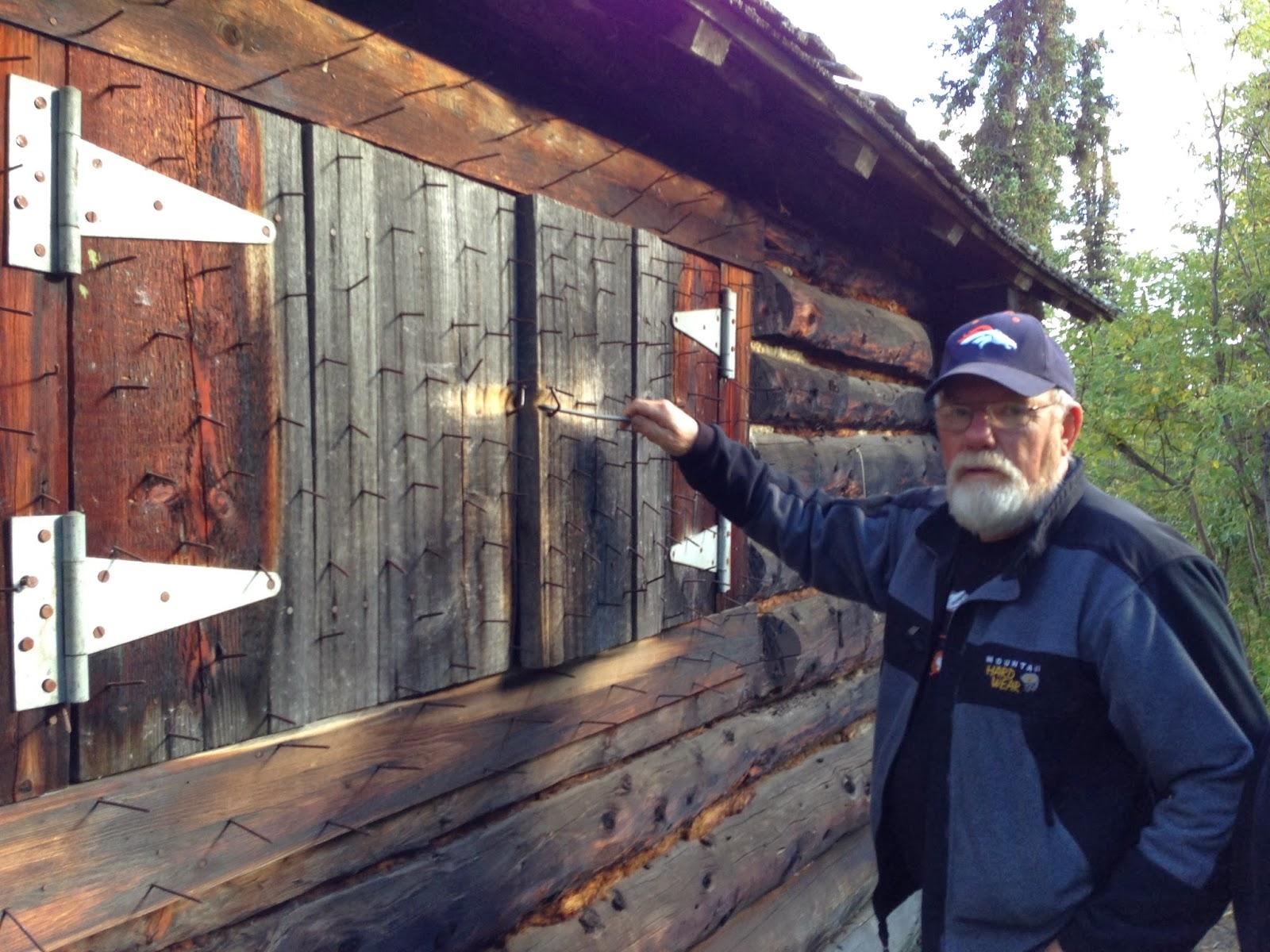 Nail Studded Cabin At Savage River In Denali Park.