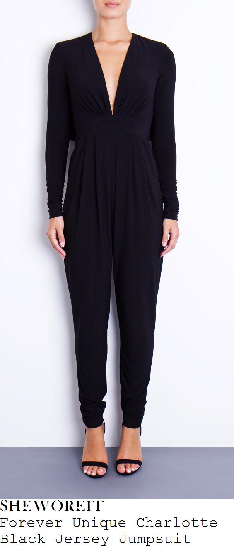 lucy-mecklenburgh-black-jersey-deep-v-neck-long-sleeve-jumpsuit