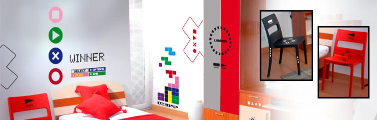 stickers muraux des d co originales avec des autocollants d coration enfant version geek. Black Bedroom Furniture Sets. Home Design Ideas