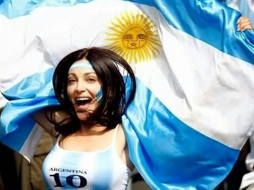 Beautiful Argentine Girl Fan Cheers