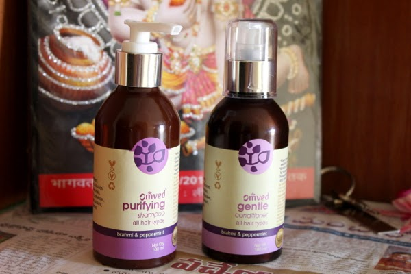 Omved Purifying Shampoo Brahmi & Peppermint for all hair types product review for hair care