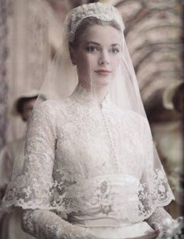 grace kelly wedding dress style. hair classic Grace Kelly style