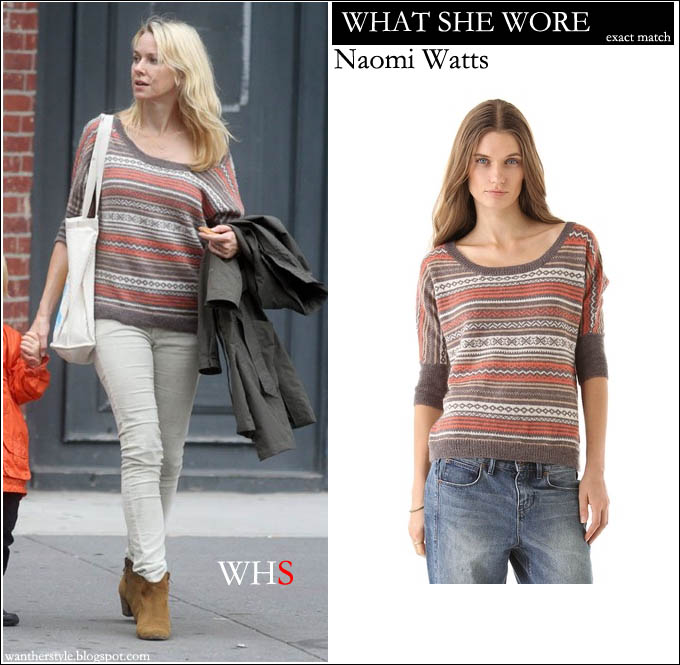 naomi watts, sweater, fashion,