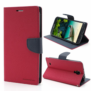 Mercury Goospery Fancy Diary Wallet Leather Case for Samsung Galaxy Mega 6.3 I9200 I9208 - Magenta