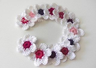 Crochet Flower Applique Mix