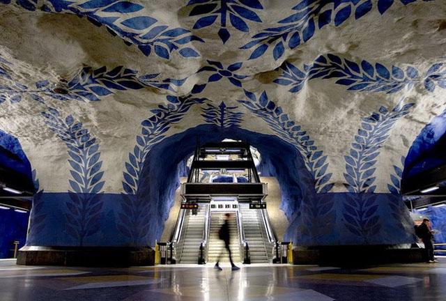 Стокгольмское метро,метро,подземка,Стокгольм,Швеция