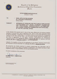 PRC extends deadline of filing application for March 2015 LET
