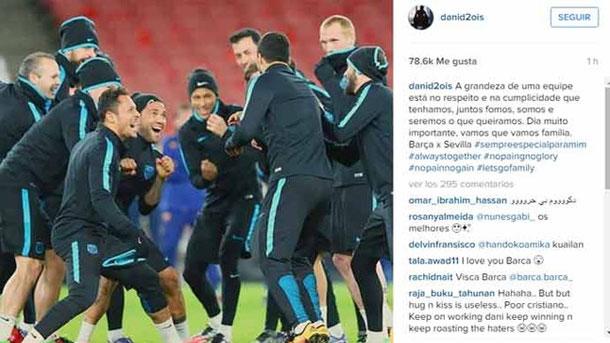 Dani Alves critica indirectamente a Cristiano Ronaldo por su falta de respeto