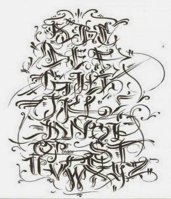 Graffiti creator styles alphabet letters a z