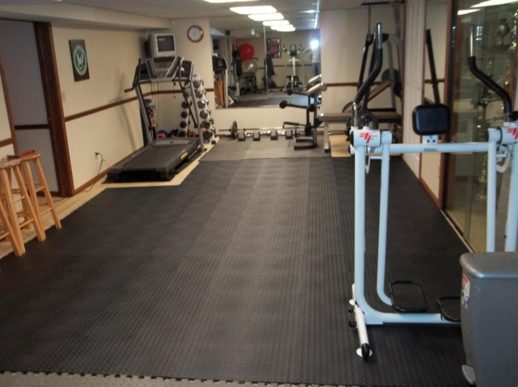 Home gym floor tiles