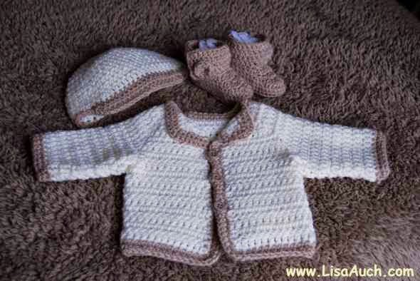 Free Crochet Pattern for a Newborn Baby Cardigan (Easy) | Free ...