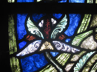 Stained glass flower from St Denis, Paris