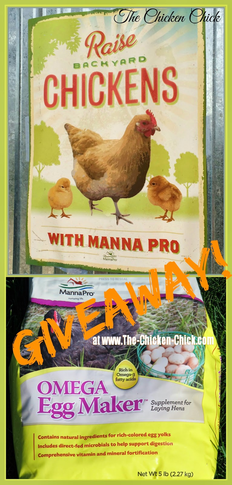 Manna Pro Poultry Vintage looking poster and Omega Egg Maker Prize package giveaway