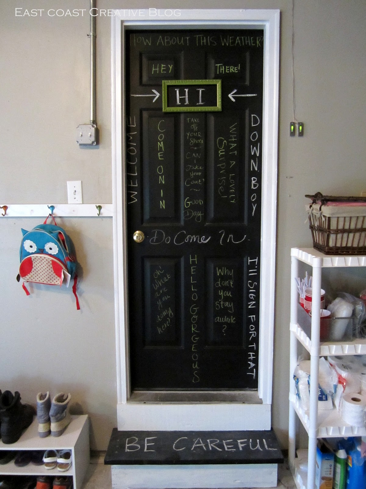 Chalkboard Door Garage Entry East Coast Creative Blog I Had An Old Frame  Laying Around That