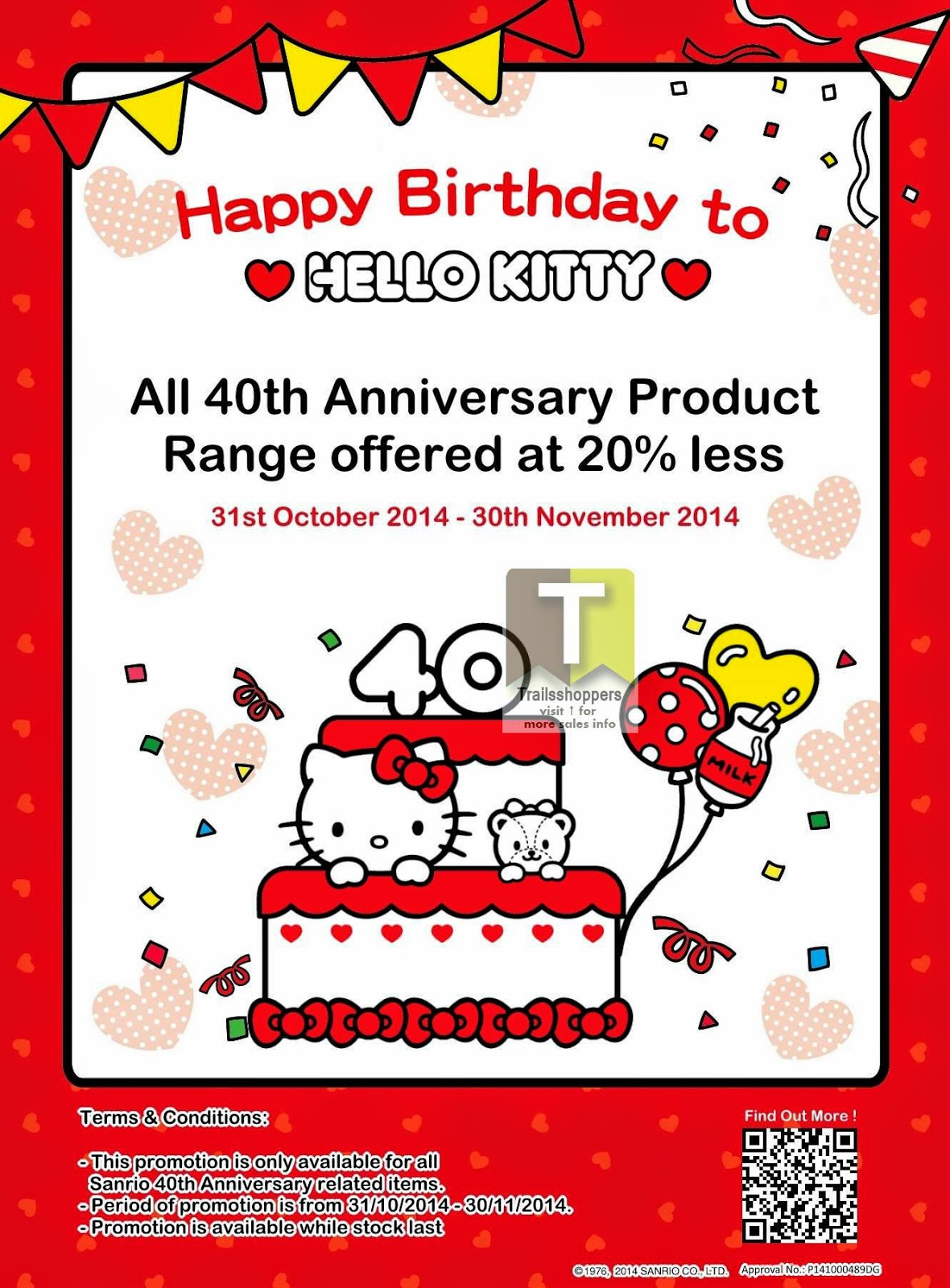 Sanrio Gift Gate Malaysia Hello Kitty 40th Promo