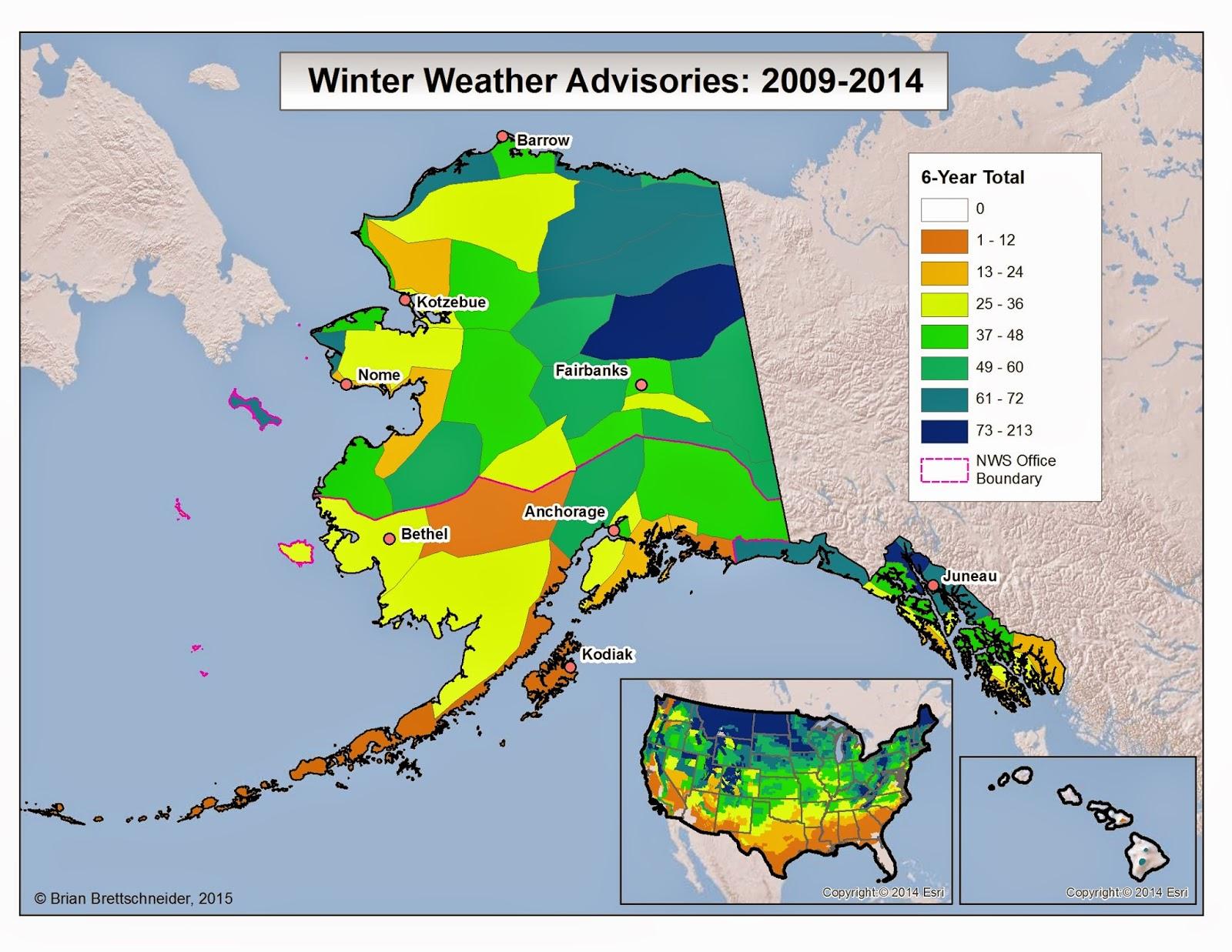 Deep Cold Interior And Northern Alaska Weather U0026 Climate Alaska Winter Weather Advisories Part 2