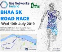 Flat fast 5k in Cork City - Wed 10th July 2019