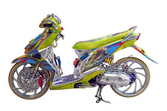 Contoh Modifikasi Honda BeAT
