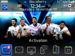 Free Download BlackBerry Theme UEFA EURO 2012