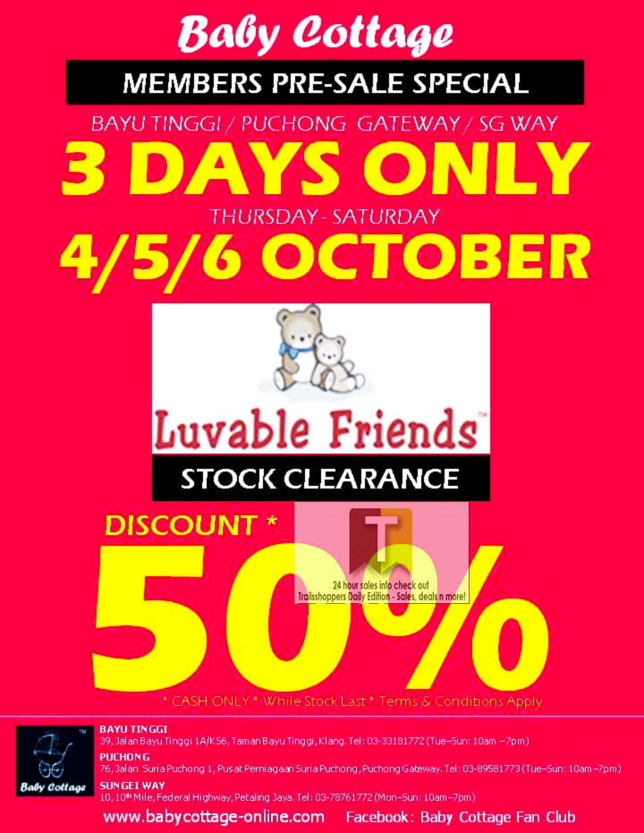 Baby Cottage Luvable Friends Stock Clearance Sale 2012
