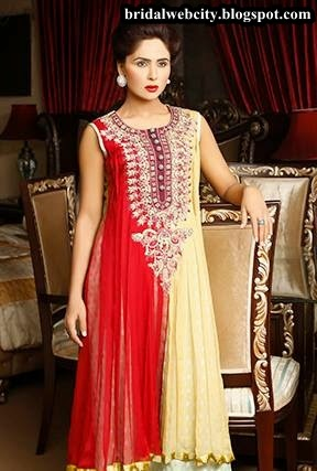 Amna Ajmal New Bridal Formal Use Collection 2014 www.bridalwebcity.blogspot.com