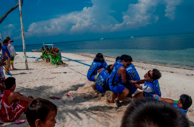 Tug of war, Malapascua Exotic island dive resort, Sports fest 2015