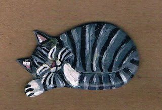 Grey Kitty Cat Brooch