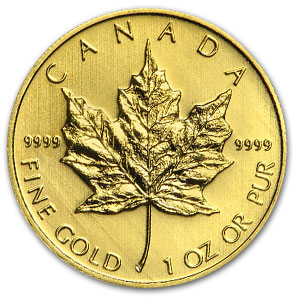 Gold maple leaf coin bullion