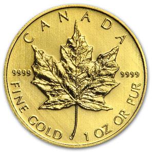 Gold maple leaf coin bullion