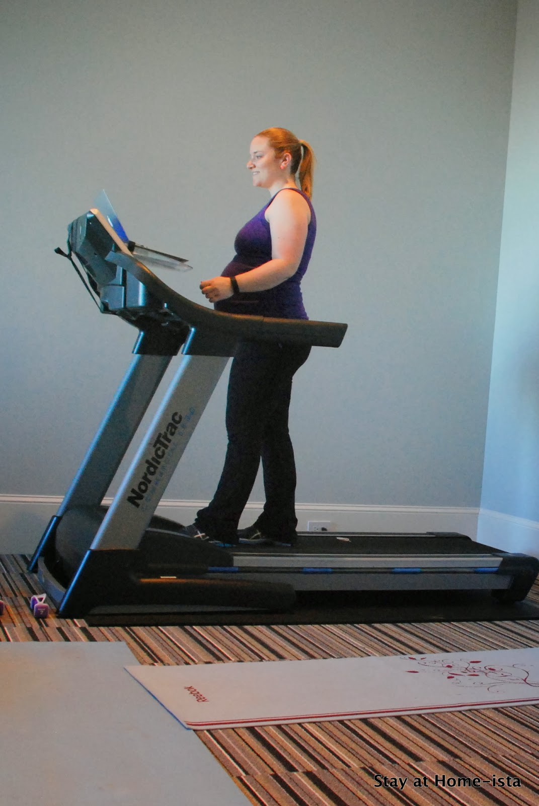 Treadmill desk hack- use a computer shelf and you can read blogs and walk at the same time!