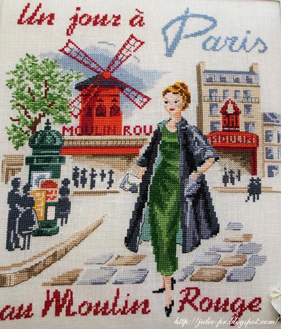 les brodeuses parisiennes, парижские вышивальщицы, атмосфера творчества, veronique enginger, один день в Париже, мулен-руж
